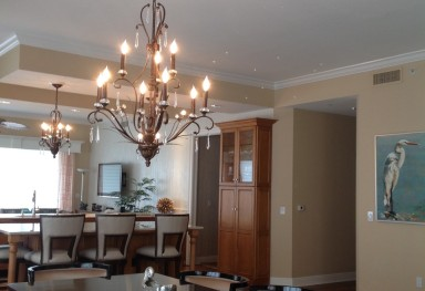 Transitional Dining Room and Kitchen